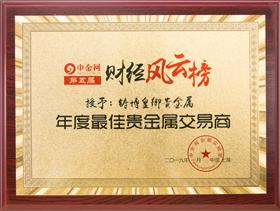 """荣获""""年度最佳贵金属交易平台"""" 铸博皇御领跑全行"""
